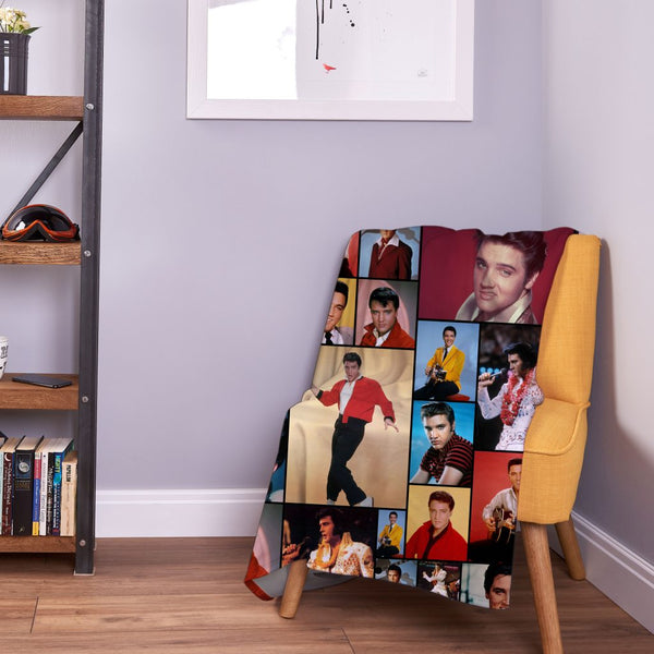 Celebrity Montage - Elvis Presley Fleece Throw