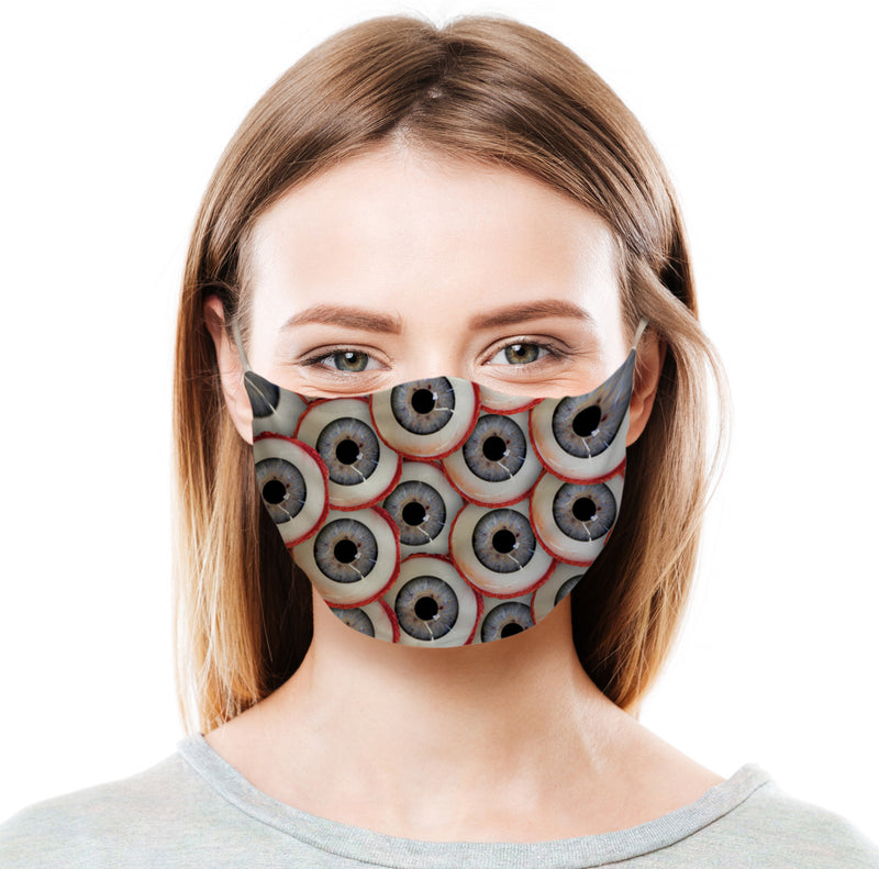 Eyeballs All Over Protective Face Mask
