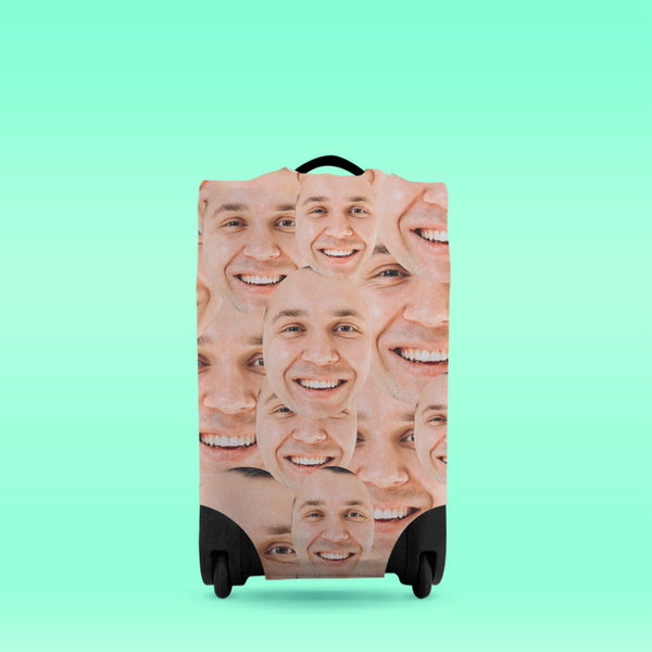 Personalised Suitcase Cover Faces All Over
