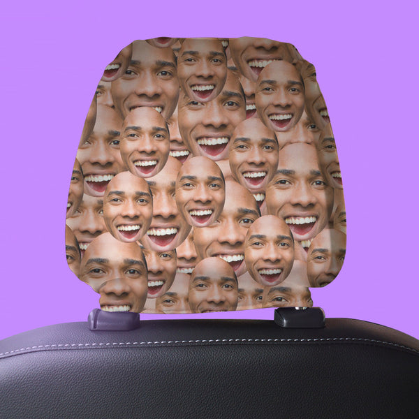 Your Face All Over - Headrest Cover