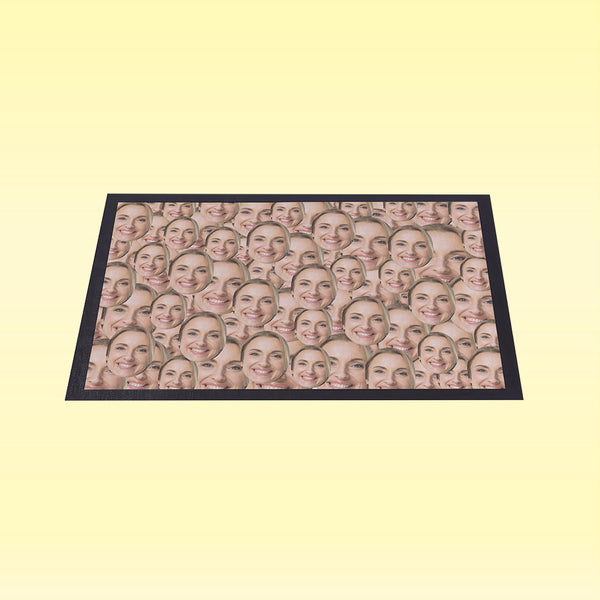 Your Face All Over - Personalised Door Mat