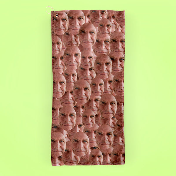 Your Face All Over - Golf Towel