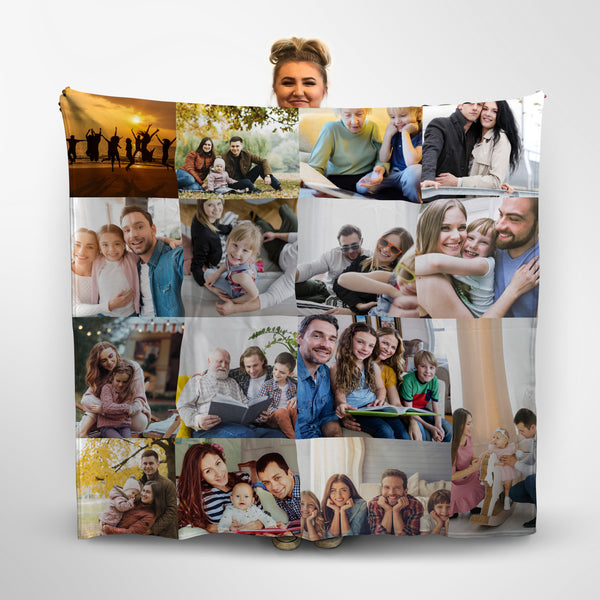 Personalised Photo Collage Fleece Blanket
