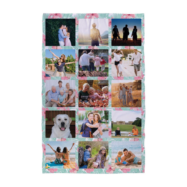 Personalised Beach Towel | Tropical Floral (Photo)