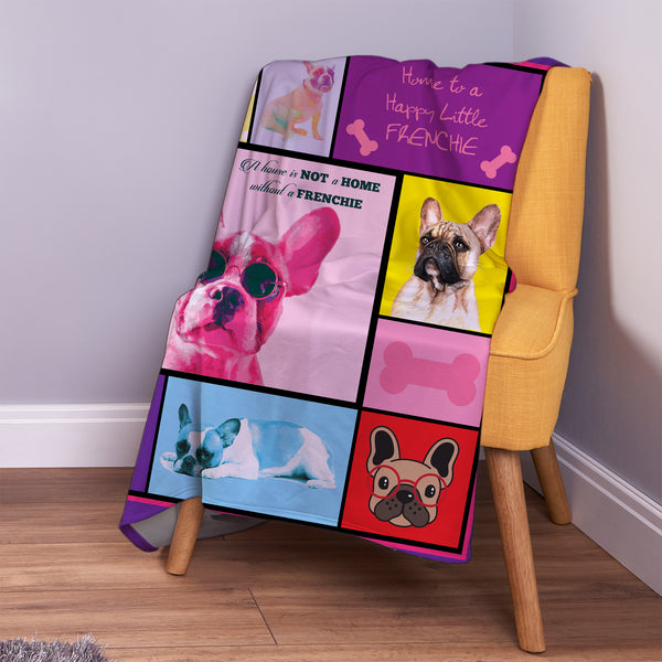 french bulldog pet blanket dog gift