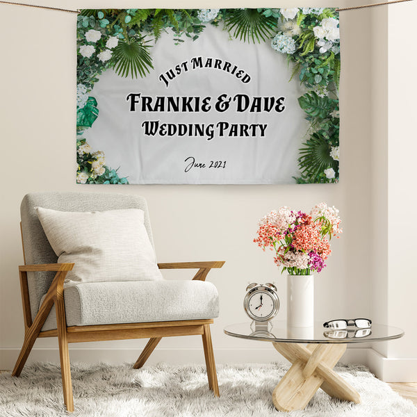 Garden Arch Party Backdrop - 5ft x 3ft
