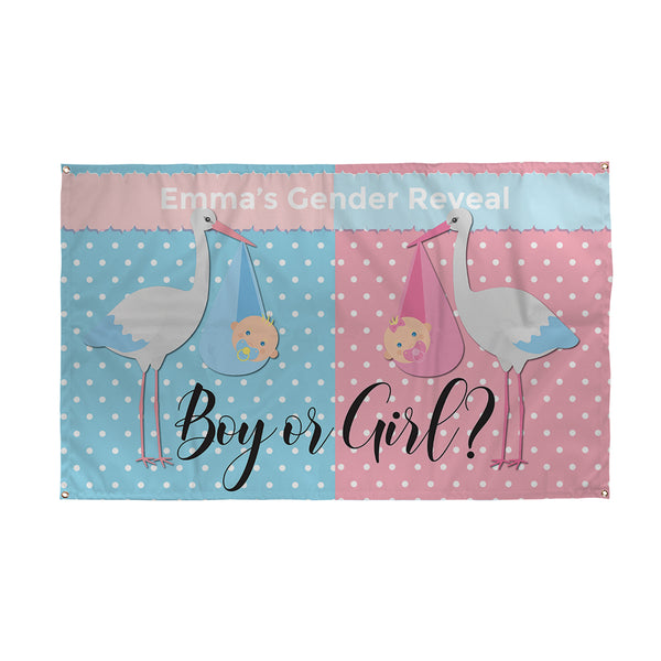 Personalised Gender Reveal Banner