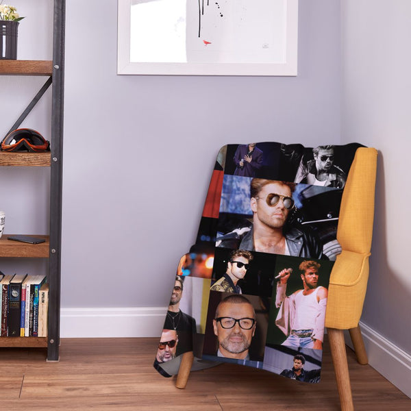Celebrity Montage - George Michael Fleece Throw