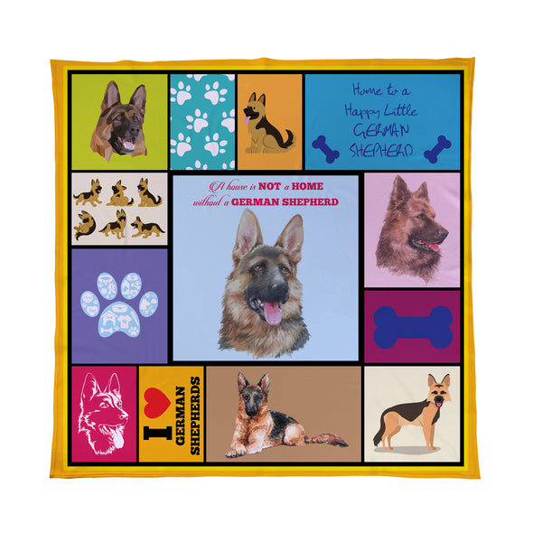 german shepherd pet blanket dog gift