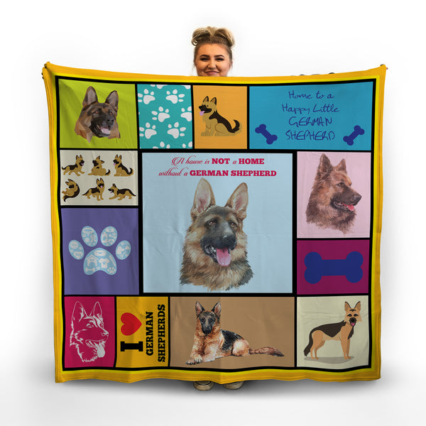 German Shepherd - Colourful Pet Blanket