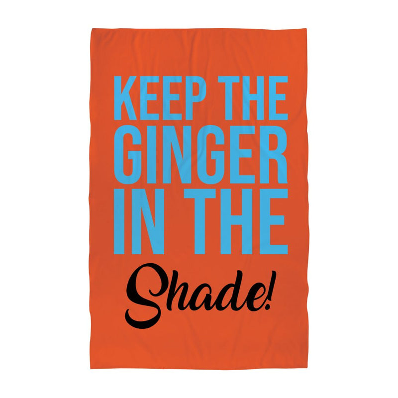 Personalised Beach Towel - Keep the Ginger in the Shade