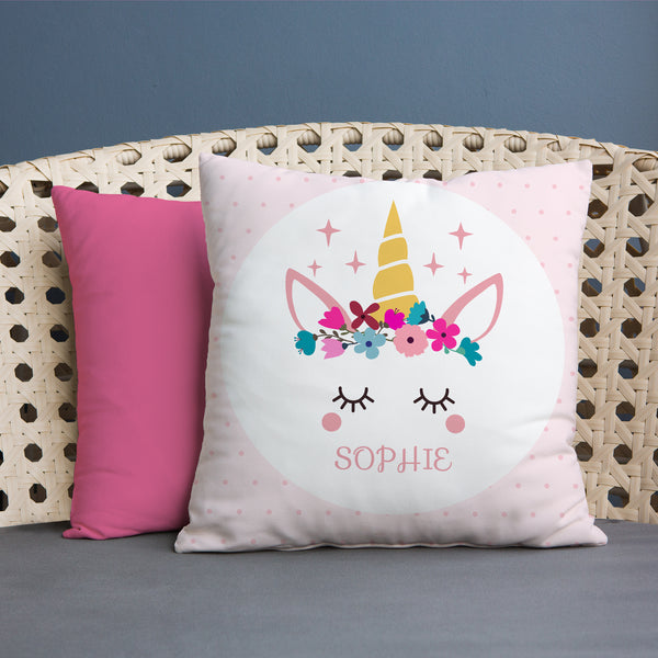 Unicorn - Personalised 45cm Cushion