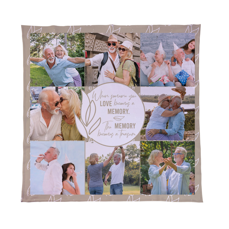 In Loving Memory Photo Blanket
