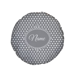 Grey Polka Dot - Personalised Dog Bed