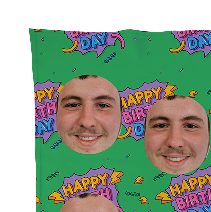 Happy Birthday - Face Scatter Blanket
