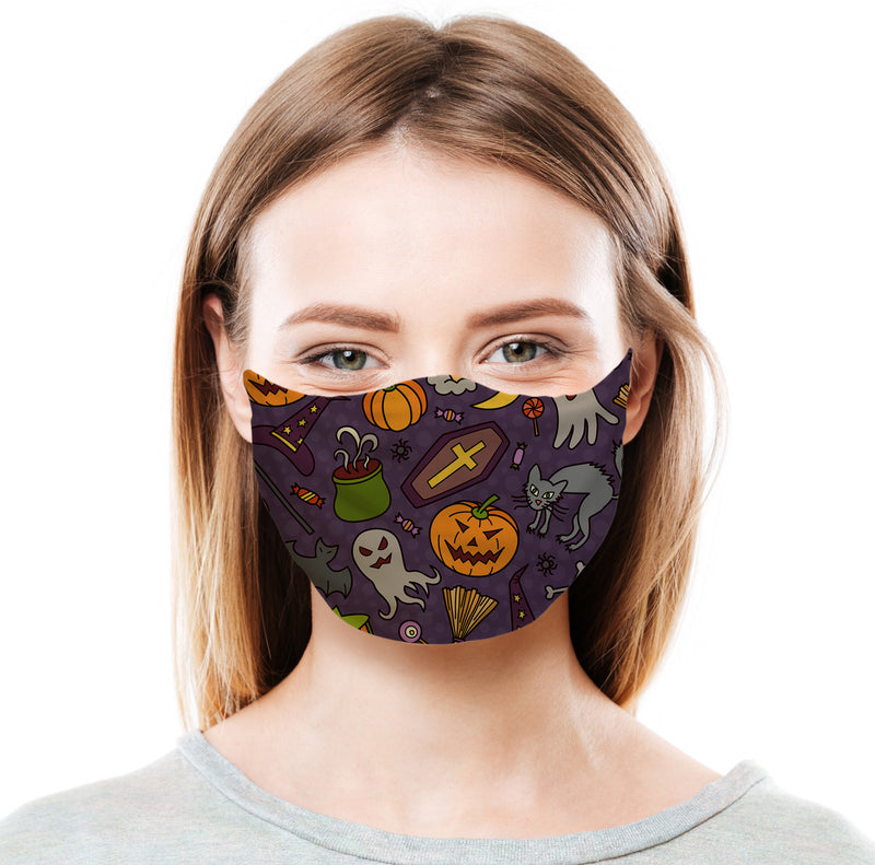 Halloween Pattern Protective Face Mask