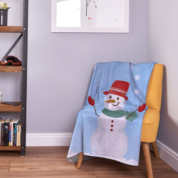 Happy Snowmen - Christmas Blanket