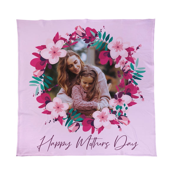 Happy Mothers Day Photo Fleece Blanket