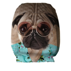Hawaiian Pug - Car Seat Headrest Covers