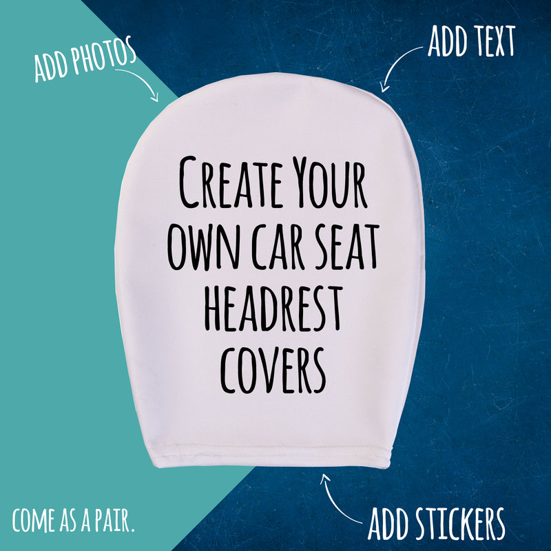 Custom Headrest Cover | Personalised Car Headrest Covers