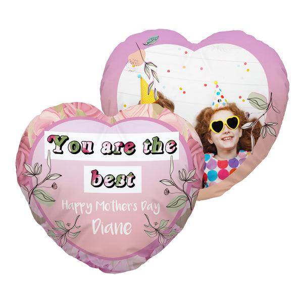 You Are The Best - Heart Shaped Photo Cushion
