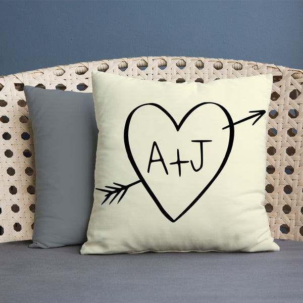Heart Initial - 45cm Cushion