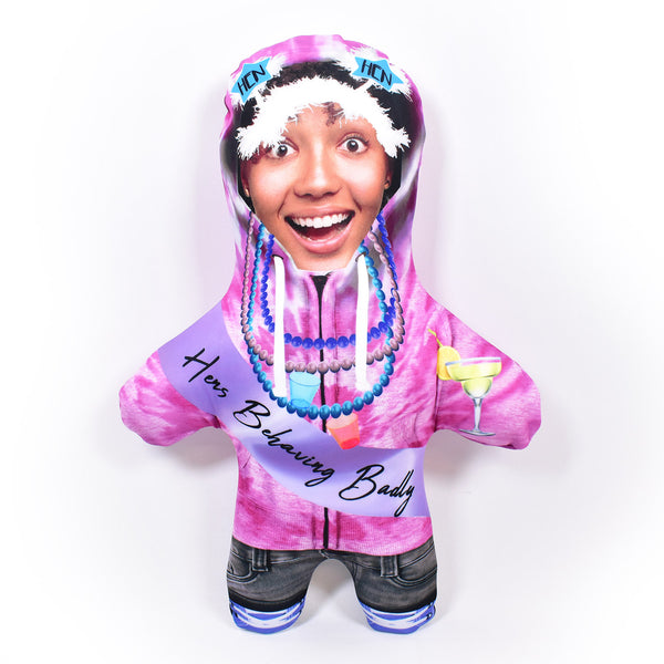 Hen Party - Tiedye Hoodie - Personalised Mini Me Doll