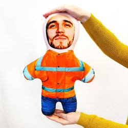 Hi-vis Builders Bum Mini Me Doll