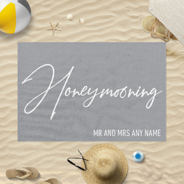 Personalised Beach Towel - Honeymooning