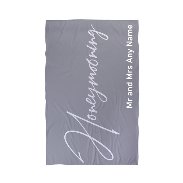 Personalised Honeymoon Beach Towel
