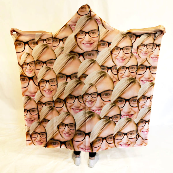 Your Face All Over - Hooded Blanket