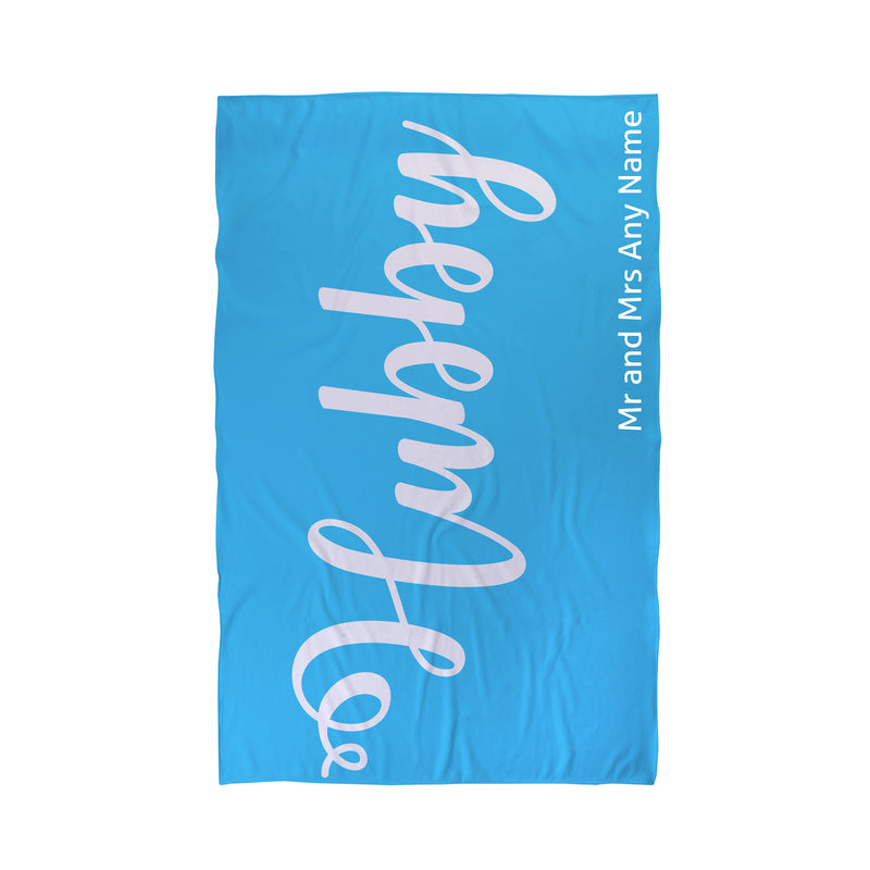Personalised Mr and Mrs Beach Towel