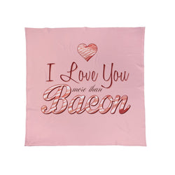 I Love You More Than Bacon Funny Fleece Blanket Throw