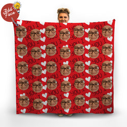 I Love You - Face Scatter Blanket
