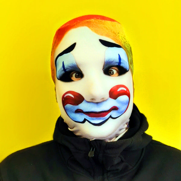 Dummy Clown FaceSkin Halloween Mask