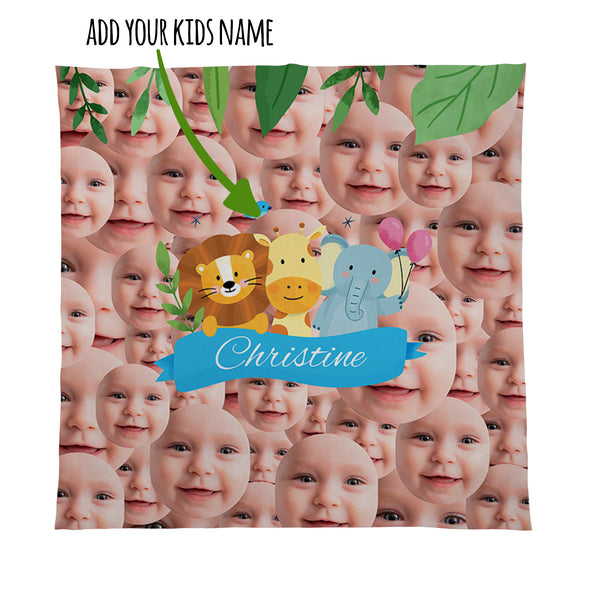 Jungle Animals -  Photo Fleece Blanket