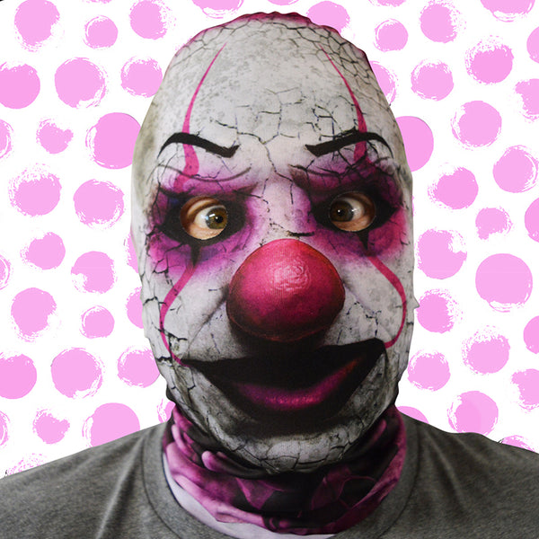 Killer Candy Floss Clown Mask - Faceskin