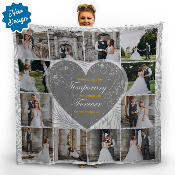 Memory Quote - Grey -  Photo Fleece Blanket