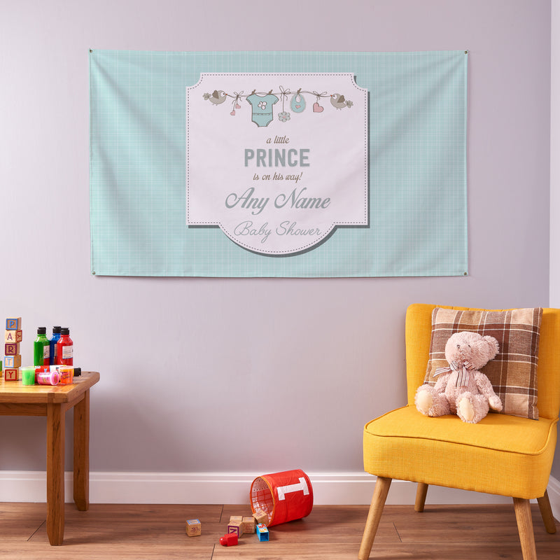 Custom Christening Banner / Baby Shower Name Banner