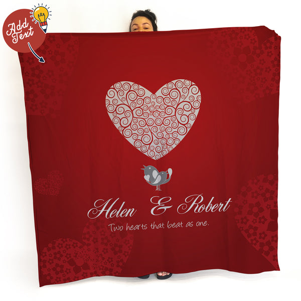 Love Birds- Fleece Blanket Throw