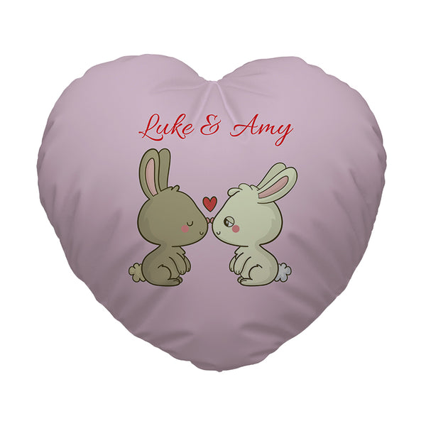 Personalised Heart Shaped Cushion