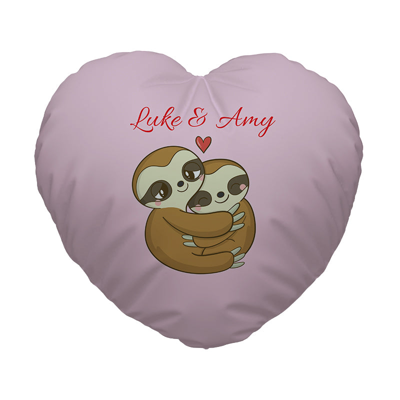 Heart Shaped Cushion - Love Sloths