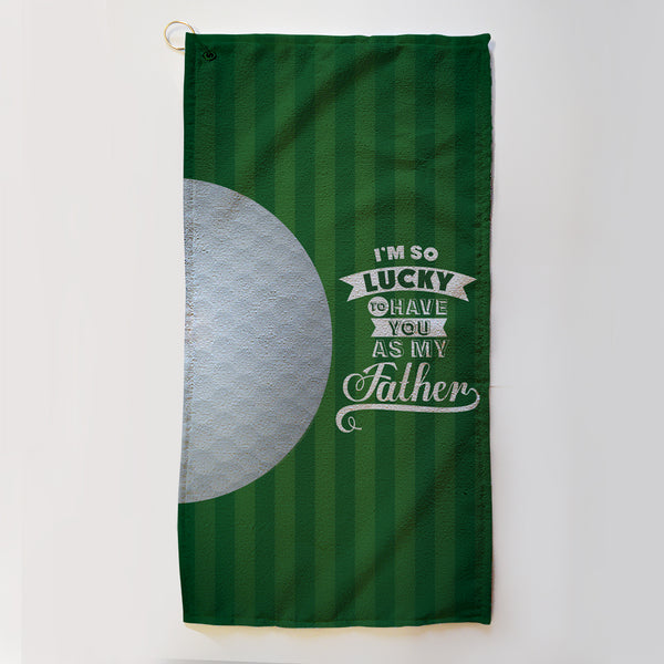 Personalised Fathers Day Golf Towel
