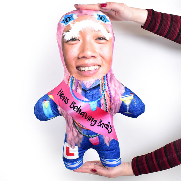 Hen Party - Blue Jumpsuit - Personalised Mini Me Doll
