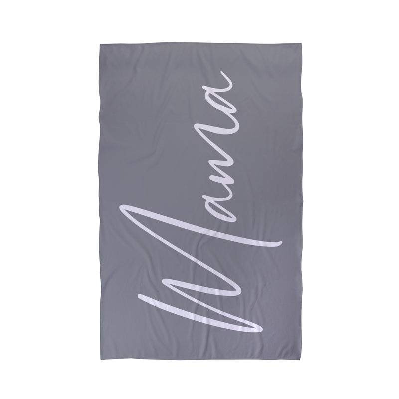 mama personalised beach towel