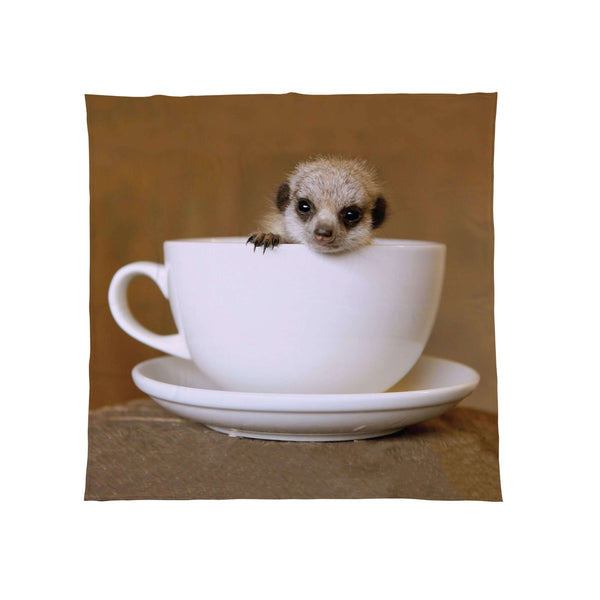 Baby Meerkat In Teacup - Fleece Throw