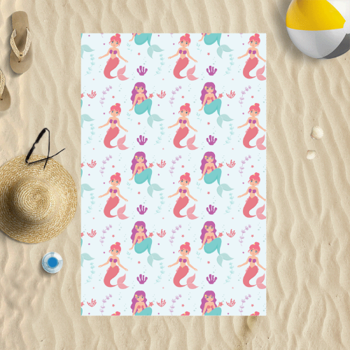 Mermaids - Personalised Beach Towel