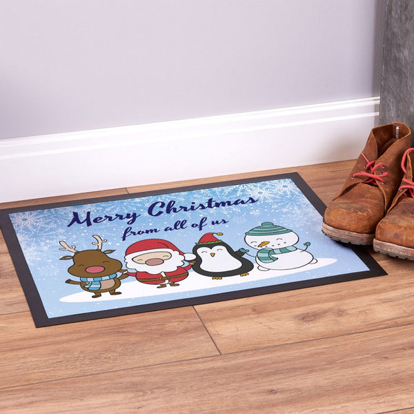 Merry Christmas Characters - Door Mat