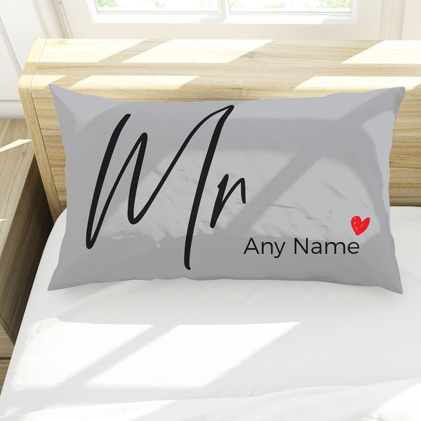 Mr - Personalised Pillow Case