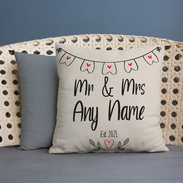 Mr & Mrs Bunting - 45cm Cushion